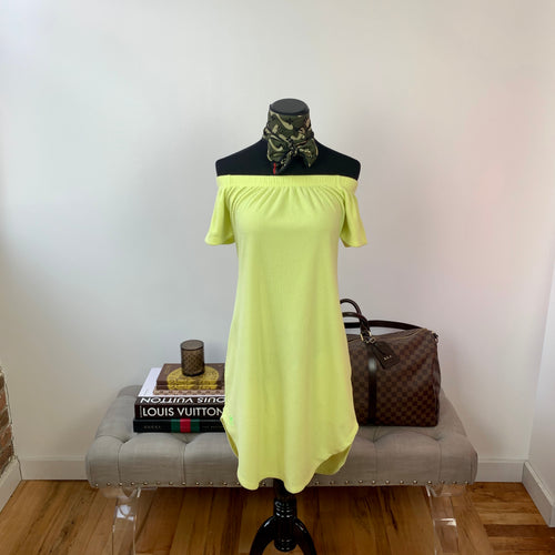 Dudley Stephens Soft Yellow Sidney Summer Dress Size Small