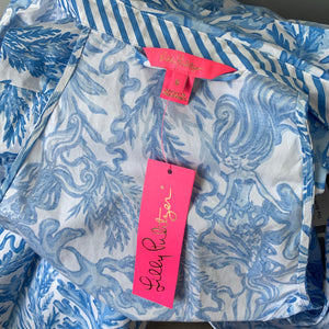 Lilly Pulitzer Chrisella Sleeveless Stretch Shirtdress Size 6