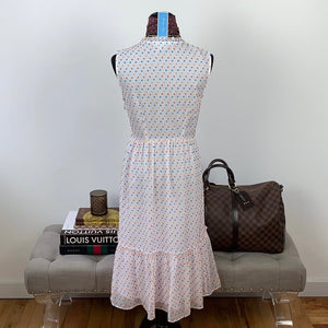 Draper James Swiss Dot Tiered Dress Size 4 NWT