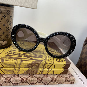 Prada Round Absolute Baroque Crystal Sunglasses - At One Boutique, LLC