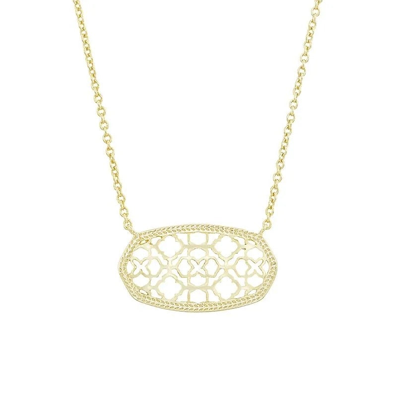Kendra Scott Dollie Pendant Necklace In Gold NWT