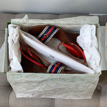 Kate Spade Alexis Nautical Wedge Sandals Size 6