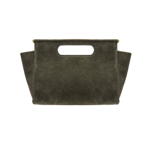 Clare V. Maude Maison Petite Bag in Army Suede