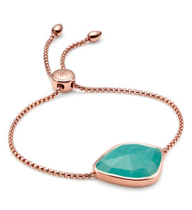 Monica Vinader Siren Nugget Cocktail Friendship Chain Bracelet in Amazonite
