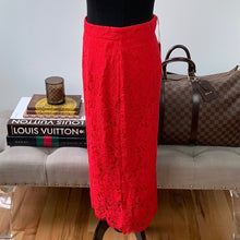 Rachel Parcell Collection Holiday Lace Skirt in Classic Red Size Small