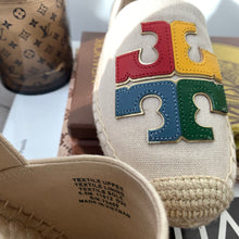 Tory Burch Ines Canvas Espadrille Size 5.5