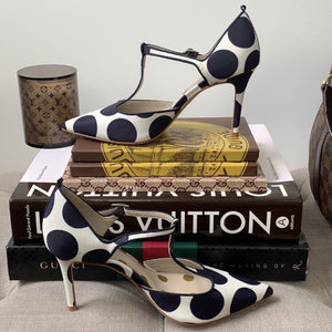Boden Angelica T-Bar Polka Dot Heels Size 36 - At One Boutique, LLC