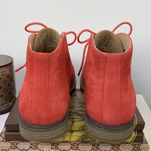 Hush Puppies Bailey Chukka Boots Fire Red Suede Size 7.5 - At One Boutique, LLC