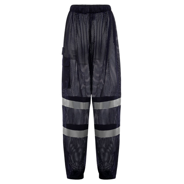 Cooley Hi-Vis Cargo Mesh Safety Pant - Navy