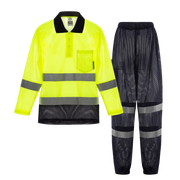 Cooley Hi-Vis Mesh Long Sleeve Shirt & Cargo Pant Set - Yellow/Navy