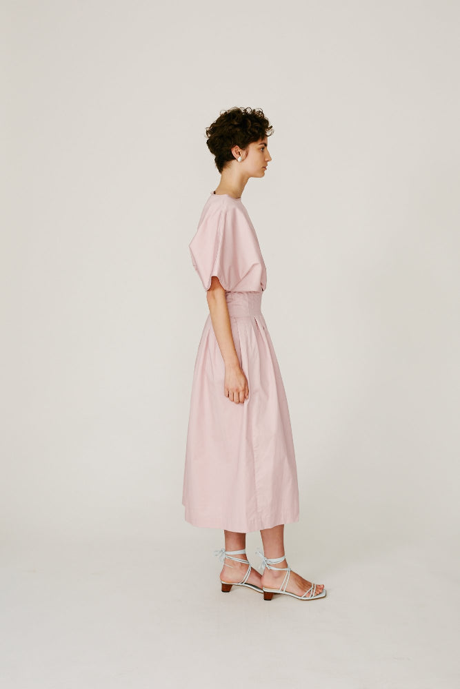BRAMMER - SOFT PINK PLEATED DRESS