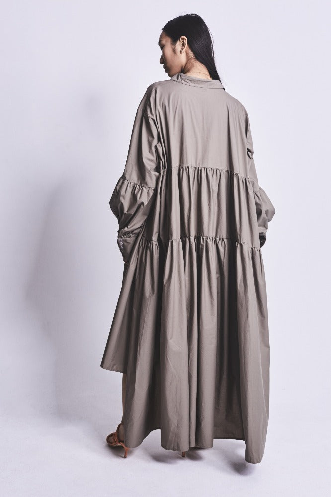 LEEROY DRESS KHAKI COTTON (MADE TO ORDER)