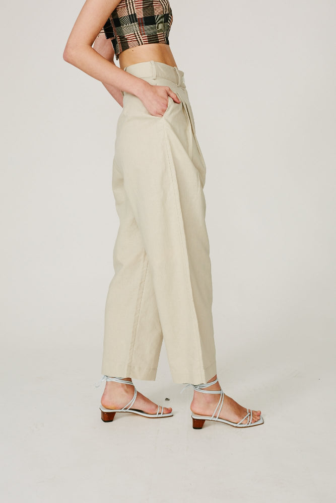 FLEMMING - TAILORED PANT (BONE)