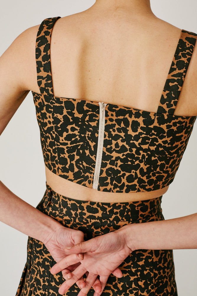 ELVIS -CROP TOP (LEOPARD PRINT)