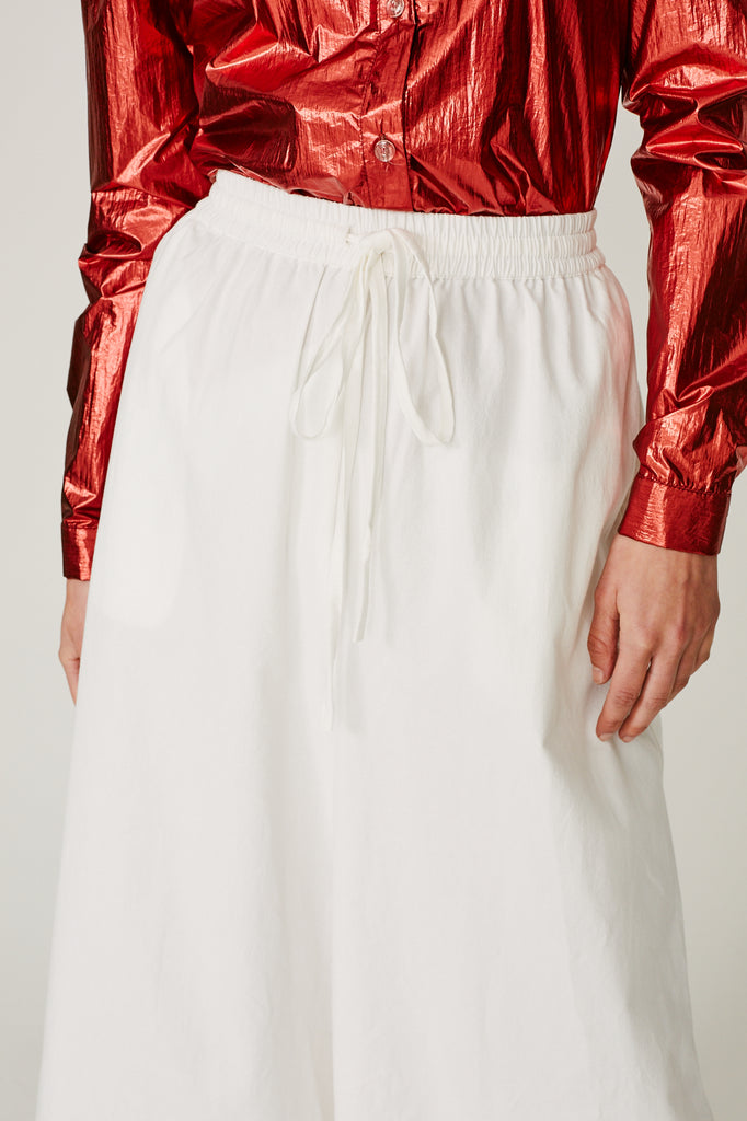 TURNER - DRAWSTRING WIDE LEG PANT (WHITE)