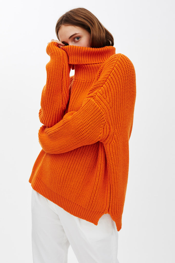 ENGENE ORANGE KNIT JUMPER