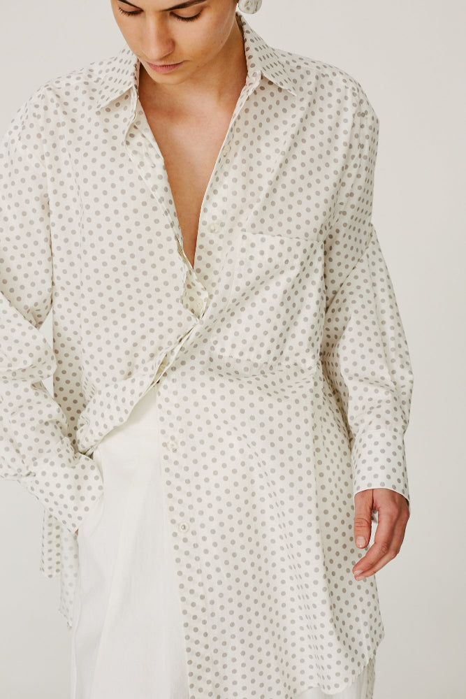 EGYPT - CLASSIC OVER-SIZED SHIRT/DRESS POLKA DOT