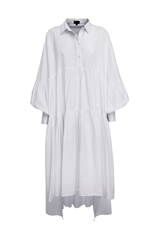 LEEROY DRESS WHITE COTTON (MADE TO ORDER)