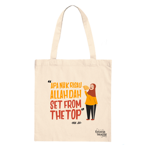 Allah Dah Set From The Top Canvas Tote Bag