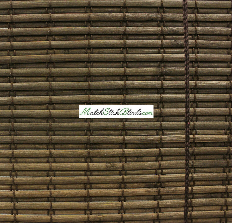 Choco Dark Brown Slat Bamboo blinds in 6 Sizes - BL100 Series