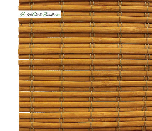 Honey Amber Slat Bamboo blinds in 6 Sizes - BL100H Series