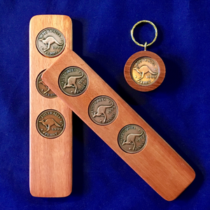 1999 Jarrah Two-Up Game & Penny Keyring Gift Pack – Haps Store