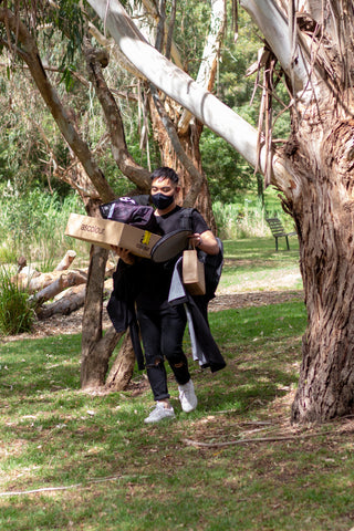 The Simple Things Ruz Carrying Boxes