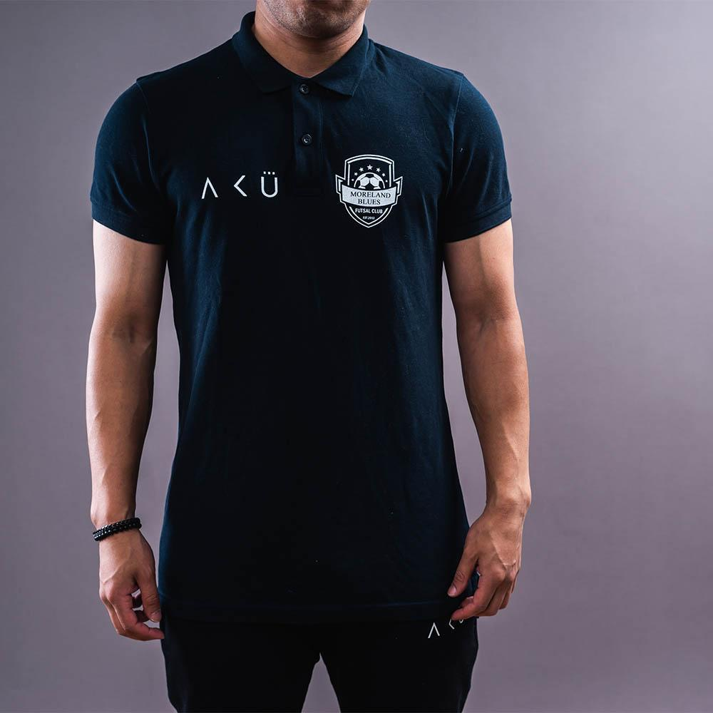 Black Polo - Tees. black, Color Black, Colour Black, polos. AKU Custom Teamwear.