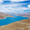 Beautiful blue water of Yamdrok Lake