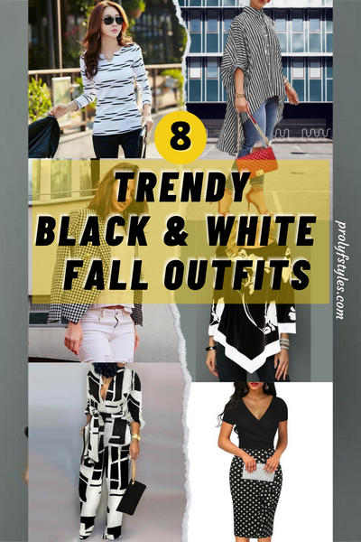 8 Trendy Black and White Fall Outfits