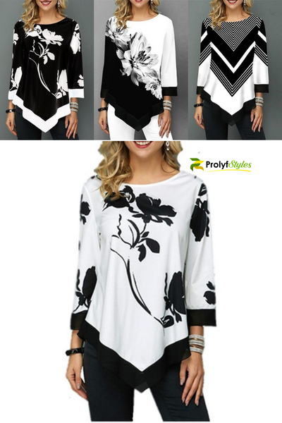 Casual Style Printed Top