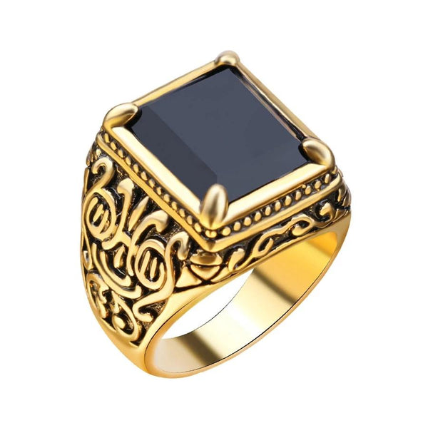 Mens Medieval Gold Ring