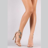 Peep Toe High Heel Sandals - Men & women apparel, Women's swimwear, men's shirts and tops, Women jumpsuits and rompers, women spring fashion