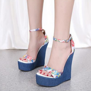 High Heel Wedge Sandals - Men & women apparel, Women's swimwear, men's shirts and tops, Women jumpsuits and rompers, women spring fashion