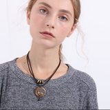 Wooden Pendant Choker Necklace - Prolyf Styles Wooden Pendant Choker Necklace, Necklace, Prolyf Styles, ProLyf Styles