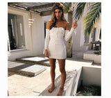 Sexy Off Shoulder Bandage Dress - Men & women apparel, Women's swimwear, men's shirts and tops, Women jumpsuits and rompers, women spring fashion