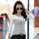 Women Stripe T-Shirt - Men & women apparel, Women's swimwear, men's shirts and tops, Women jumpsuits and rompers, women spring fashion