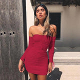 Sexy Off Shoulder Bandage Dress - Prolyf Styles Sexy Off Shoulder Bandage Dress, Dress, Prolyf Styles, ProLyf Styles