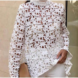 Long Sleeve Lace Top - Men & women apparel, Women's swimwear, men's shirts and tops, Women jumpsuits and rompers, women spring fashion