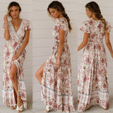 Bohemian Long Floral Dress - Men & women apparel, Women's swimwear, men's shirts and tops, Women jumpsuits and rompers, women spring fashion