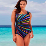 Flattering Plus Size One Piece Swimsuit - Men & women apparel, Women's swimwear, men's shirts and tops, Women jumpsuits and rompers, women spring fashion