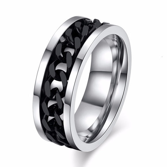 Cool Spin Chain Ring for Men - Men & women apparel, Women's swimwear, men's shirts and tops, Women jumpsuits and rompers, women spring fashion