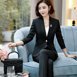 Women's Formal Business Pantsuit - Men & women apparel, Women's swimwear, men's shirts and tops, Women jumpsuits and rompers, women spring fashion