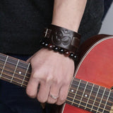Punk Rock Leather Bracelet - Prolyf Styles Punk Rock Leather Bracelet, Bracelet, Prolyf Styles, ProLyf Styles