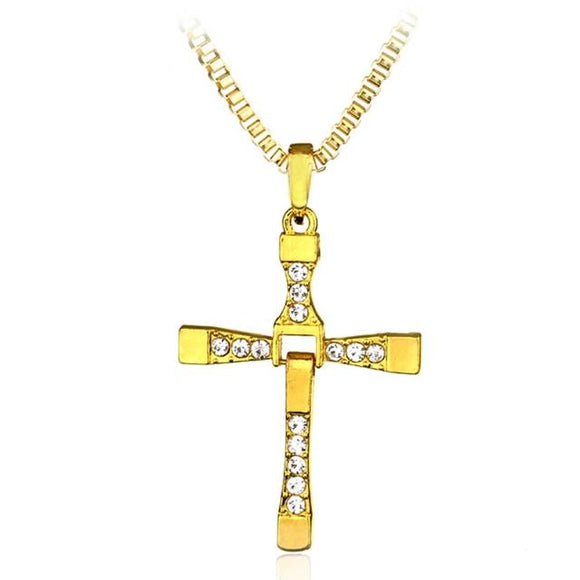 Crystal Cross Pendant Men's Necklace - Prolyf Styles Crystal Cross Pendant Men's Necklace, Necklace, Prolyf Styles, ProLyf Styles