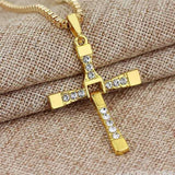 Crystal Cross Pendant Men's Necklace - Men & women apparel, Women's swimwear, men's shirts and tops, Women jumpsuits and rompers, women spring fashion