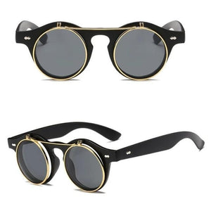 Flip Up Steampunk Sunglasses - Men & women apparel, Women's swimwear, men's shirts and tops, Women jumpsuits and rompers, women spring fashion