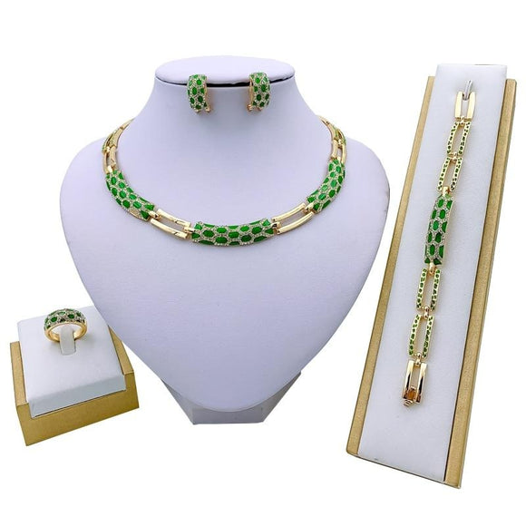 Luxury Bridal Women Jewelry Set - Men & women apparel, Women's swimwear, men's shirts and tops, Women jumpsuits and rompers, women spring fashion