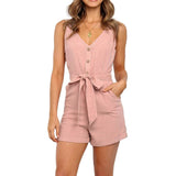 Casual V Neck Short Jumpsuit - Prolyf Styles Casual V Neck Short Jumpsuit, Jumpsuit, ProLyf Styles, ProLyf Styles