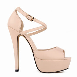Peep Toe Platform Sandals - Men & women apparel, Women's swimwear, men's shirts and tops, Women jumpsuits and rompers, women spring fashion